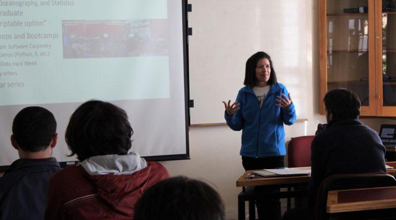 Destacada académica de EE.UU. visita la USM y expone sobre ciencia de datos